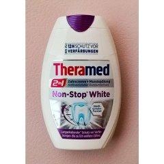 2in1 Zahncreme + Mundspülung Non-Stop White von Theramed