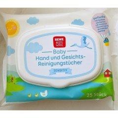 Baby Hand- und Gesichts-Reinigungstücher Sensitiv von Rewe