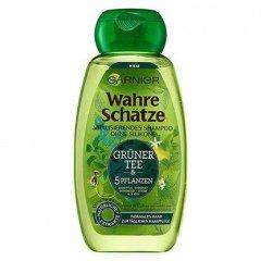Wahre Schätze - Grüner Tee & 5 Pflanzen - Shampoo von Garnier