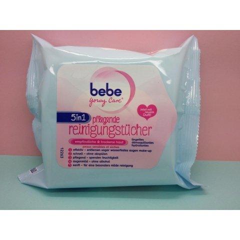 Young Care - 5 in 1 pflegende Reinigungstücher für empfindliche und trockene Haut von Bebe