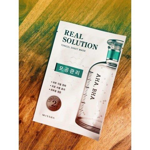 Real Solution - Tencel Sheet Mask - AHA, BHA von Missha
