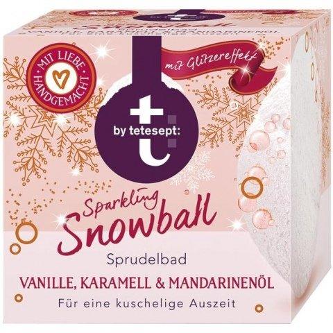 Sprudelbad - Sparkling Snowball - Vanille, Karamell & Mandarinenöl von t: by tetesept