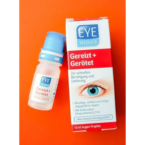 Gereizt + gerötet Augentropfen von Eye Medica