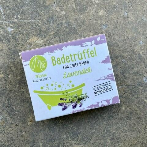 Badetrüffel für zwei Bäder - Lavendel von Mara Naturkosmetik
